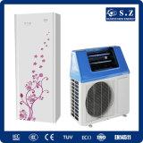 Wärme-Rohr-thermischer Sammler 5kw, 7kw, 9kw hohes Cop5.32 inländisches Heißwasser 60deg c außer 80% elektrischer Sonnenenergie-Wärmepumpe der Mischungs-220V