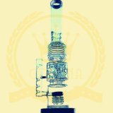 It crowns T14 Green Tobacco Recycler Tall Color Bowl Glass Craft Ashtray Glass Pipes Heady Beaker Bubble Glass Water Pipe