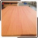 madera contrachapada de lujo de 3.6/5.2/9/12//18m m Sapele para los muebles