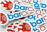 Etiqueta de etiqueta personalizada de PVC com decalque ao ar livre