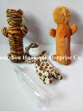 Het pluche Gevulde Stuk speelgoed van het Huisdier (beer, leeuw, tijger)