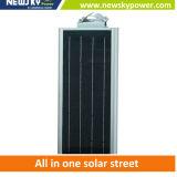 Réverbère solaire extérieur de l'éclairage DEL de seul modèle Integrated 5W-120W