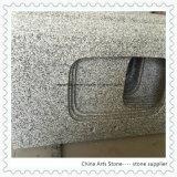 台所プロジェクトのための白い灰色の花こう岩の台所カウンタートップ