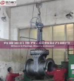 Manueller Kegelradgetriebe-elektrischer gebetriebener Flansch-Absperrschieber