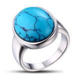Серебряное большое кольцо бирюзы 925
