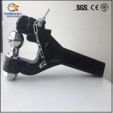 Supports et barres d'attelage noirs en acier modifiés de bille d'accroc de remorque de partie lisse