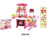 De reeks-Kassier van het Bureau van het Diner van het Stuk speelgoed B/O van de keuken Vastgesteld Plastic Bureau (2946171)