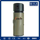 El tipo la mejor eficacia de Europa salva el hogar 60deg c Dhw 3.5kw 150L, 200L, el tanque de agua a presión de la potencia del 70% de la pompa de calor de la fuente de aire 260L