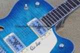 Guitare électrique de jazz de corps de cavité de fini d'éclat de bleu de mer (GG-2)