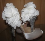 2016 sandalias de tacón alto de plata de las señoras (HCY02-1677)