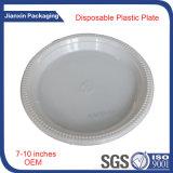 Placa 9inches plástica descartável para o alimento