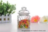 Glasgewürz-Glas mit verschiedener Farben-Dekoration und Glas-Kappe