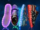 Flache LED beiläufige Schuhe der populären Form-mit LED-Band
