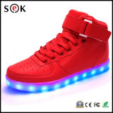 Popular alta de nivel superior del bailarín de las zapatillas de deporte zapatos LED LED ocasionales para requisitos particulares con Llashing