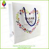 La flor de papel de color de impresión de cartón cesta de la compra