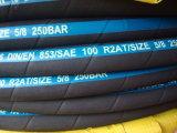 Tresse à haute pression de fil d'acier/boyau spiralé