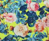 A venda por atacado personalizou a tela impressa do Swimwear das rosas Spandex de nylon lindo