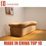 Meubles en cuir kaki de sofa de Nubuck Chesterfield de salle de séjour de luxe