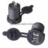 Wasserdichte Doppel-USB-Aufladeeinheits-Adapter-Kontaktbuchse für Auto-Marine-Motorräder