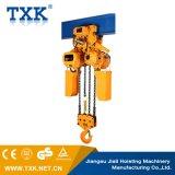 Alzamiento de cadena eléctrico eléctrico de 10 toneladas del equipo de elevación de Txk con el gancho de leva