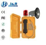 Los teléfonos Emergency industriales, hacen un túnel los teléfonos sin hilos, teléfono del sistema de alarma