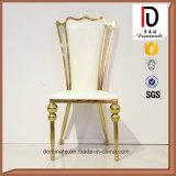 Роскошный королевский трон Wedding золотистый стул нержавеющей стали