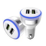 15W 유일한 디자인 QC3.0 2 USB iPhone를 위한 운반 차 충전기