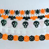 Guirnalda del papel de tejido de la decoración de Víspera de Todos los Santos, palo/araña/calabaza/guirnalda del mago