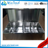 Support de cadre d'ingrédient d'acier inoxydable avec le diviseur de solides solubles