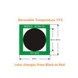 Calor em mudança da cor - etiqueta sensível da indicação da temperatura das etiquetas