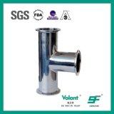 Encaixe de tubulação sanitária longo apertado sanitário do T do aço inoxidável