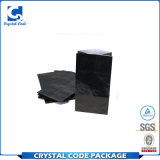 Мешок напечатанный таможней лоснистый черный бумажный с ручками