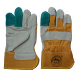 Verstärkungskuh-aufgeteiltes Leder-Arbeitssicherheits-Handschuhe