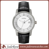 Horloge Van uitstekende kwaliteit van het Roestvrij staal van het Leer van mannen & van Vrouwen het Echte