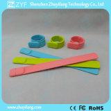 Изготовленный на заказ привод вспышки USB браслета Wristband шлепка силикона (ZYF5053)
