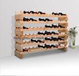 72 fles 6 de Status van de Houder van het Rek van de Wijn van de Plank van de Rij houdt de Houten Kelder van de Spar van de Opslag
