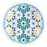 سعوديّ شبه جزيرة عربيّة ميلامين [سلد بلت] [دينّرور] زرقاء اللون الأخضر صفراء