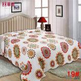 パッチワークによってキルトにされる綿のベッド・カバー