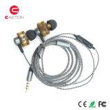 Fones de ouvido prendidos metal do Portable 3.5mm Earbuds com pacote de Cuscom