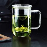 Copo de chá de vidro personalizado com filtro