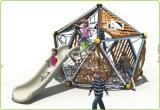 Le centre extérieur de jeu d'enfants de bille de l'espace de Kaiqi a combiné avec le réseau de glissière et d'espace (KQ60145A)