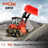Everun CER anerkannte kompakte Rad-Ladevorrichtung der Bauernhof-Maschinerie-1.0ton