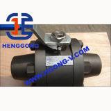 Vávula de bola de acero forjada de alta presión A105 de DIN/ANSI