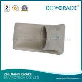 Saco de filtro não tecido de feltro da agulha do filtro industrial da poeira