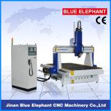 중국에 있는 회전하는 장치를 가진 CNC 대패를 새기는 Ele-1530 4 축선 3D