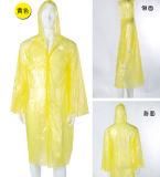 Raincoat longo descartável da alta qualidade com luvas e teclas