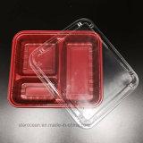 Rectángulo de almuerzo de empaquetado del producto plástico de PVC/BOPS