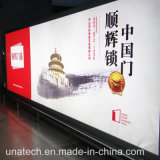 Casella chiara esterna impermeabile di media di pubblicità della bandiera della flessione LED