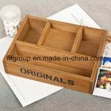 주문 고품질 자연적인 나무로 되는 차 상자 저장 상자