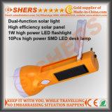 Lâmpada de mesa solar do diodo emissor de luz da lanterna elétrica 10 SMD do diodo emissor de luz 1W